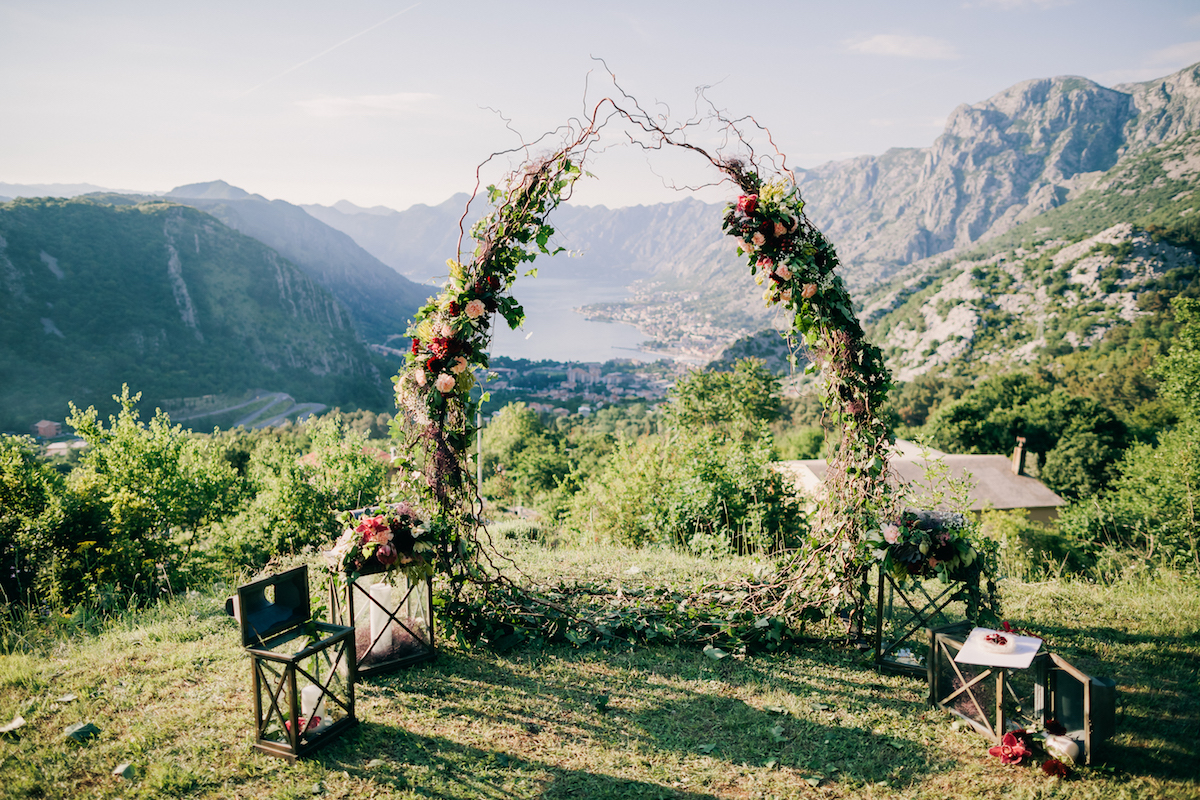 свадьба в черногории, wedding montenegro, flowers Montenegro, decorations of weddings in Montenegro