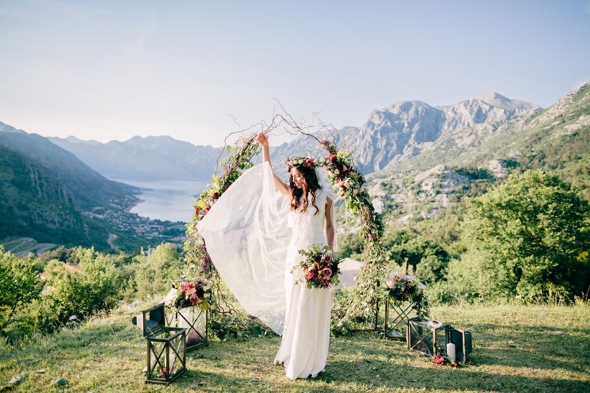 свадьба в Черногории свадьба в Черногории, boho style wedding ceremony Montenegro