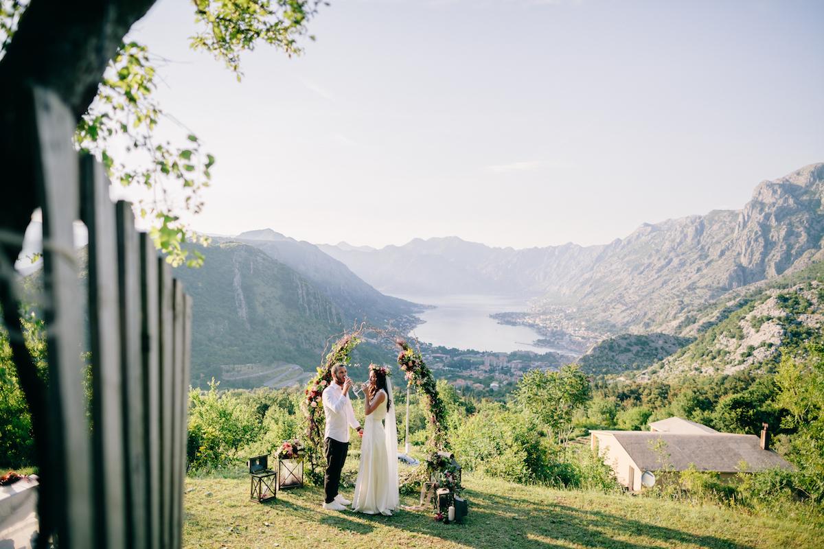boho style wedding Montenegro