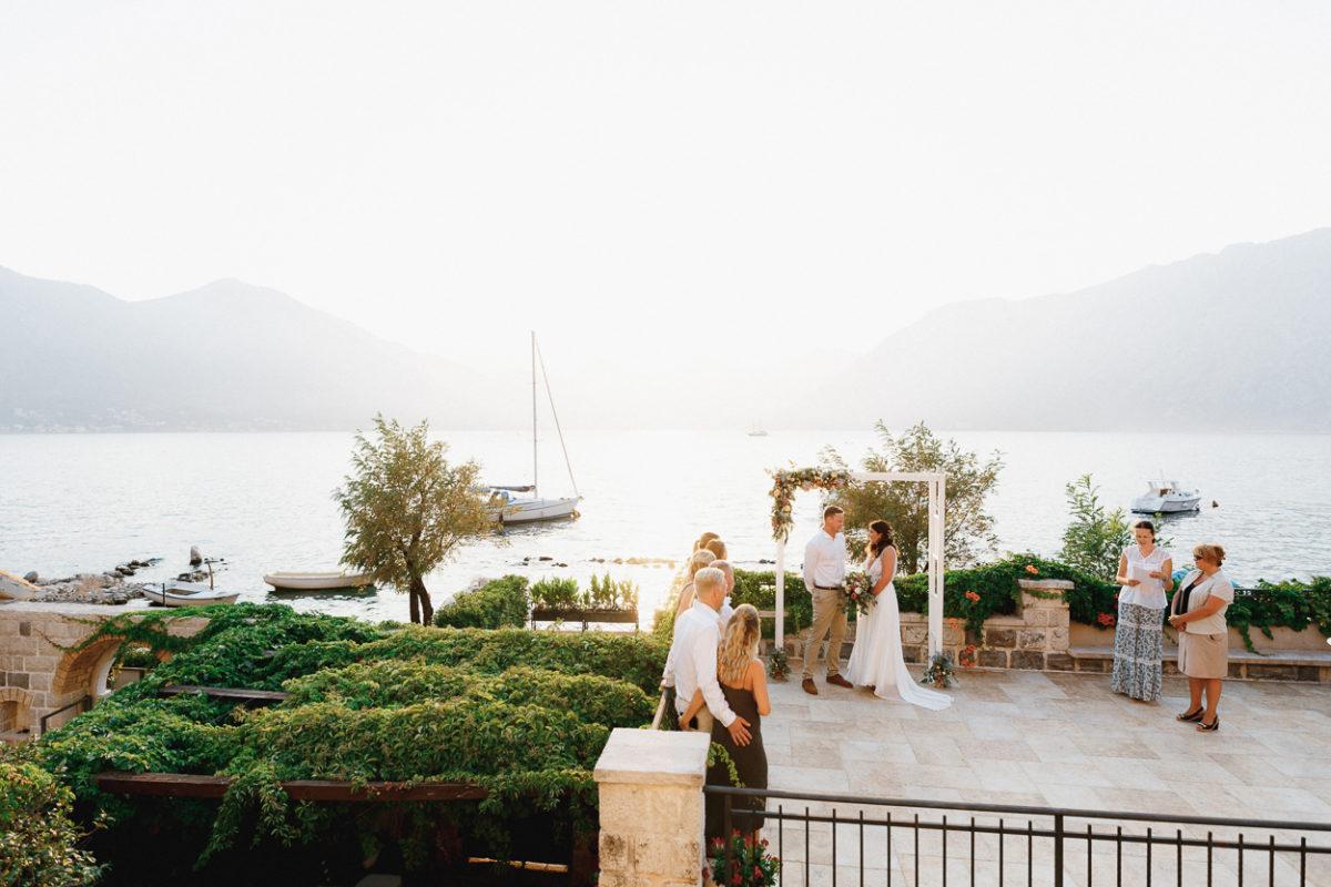 wedding ceremony in Montenegro