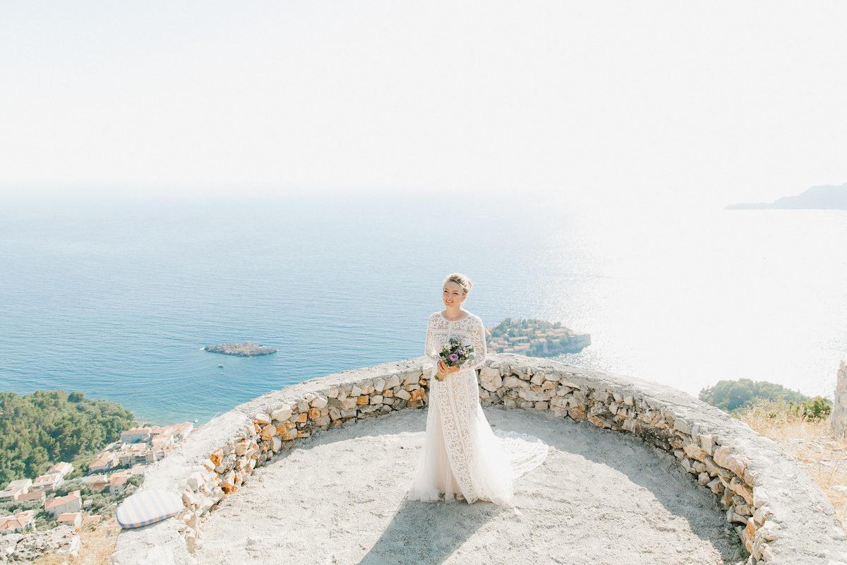 Wedding in Montenegro - Sveti Stefan island bride