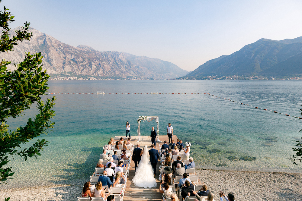 wedding ceremony in Montenegro