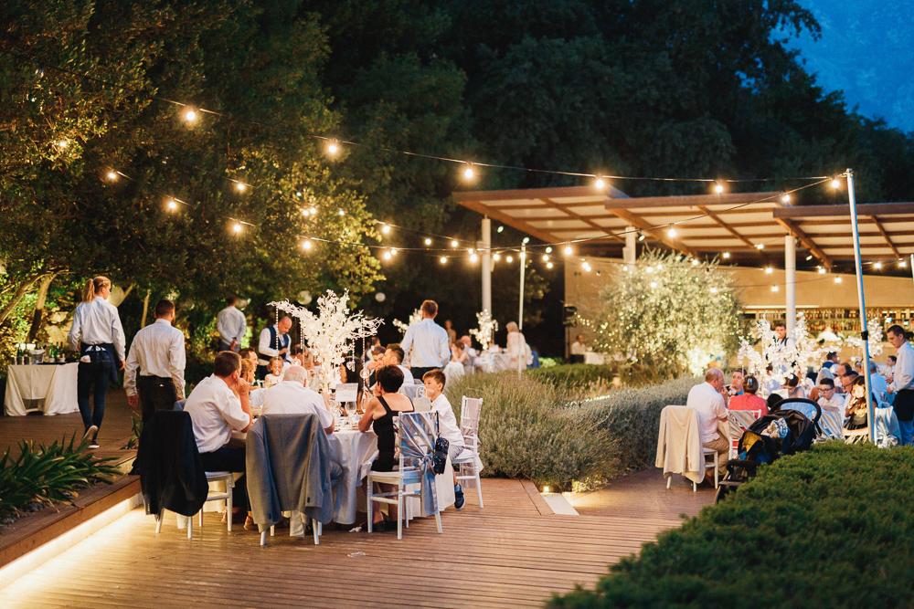 wedding reception in Montenegro