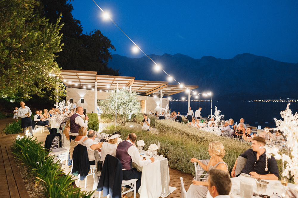 wedding reception in Montenegro