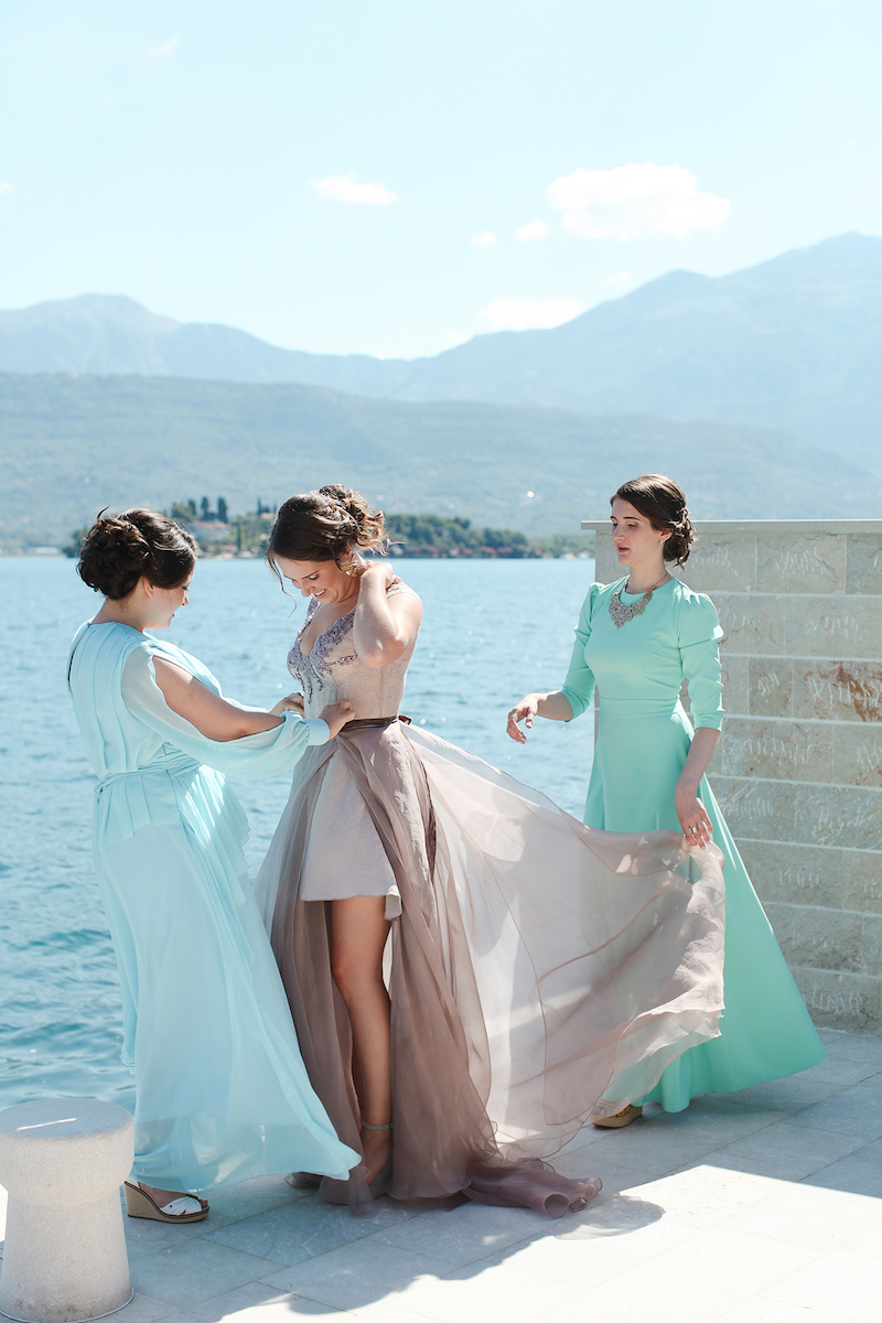 bride and groom, wedding Montenegro, villas Montenegro, apartments Montenegro
