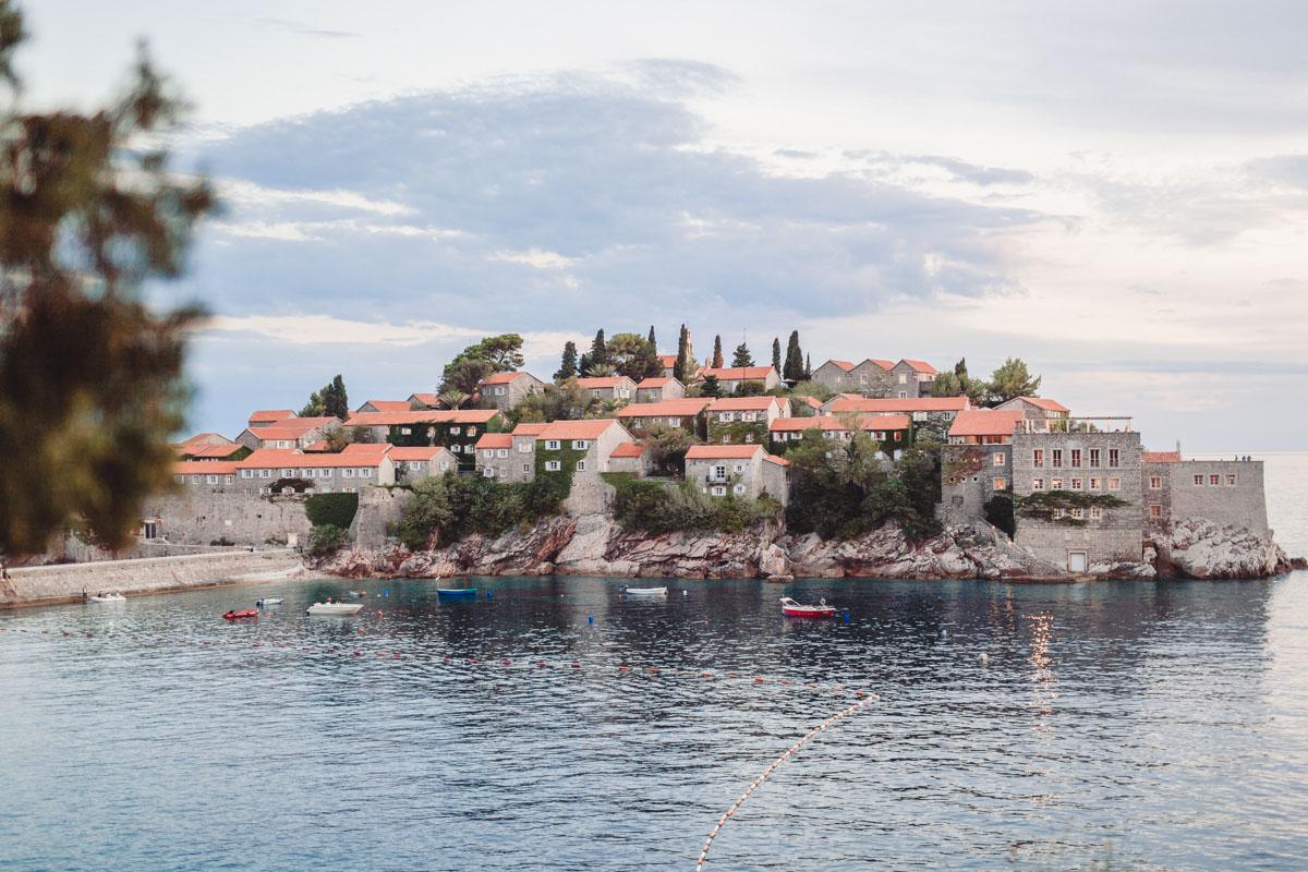 sveti stefan island, milocer park, montenegro