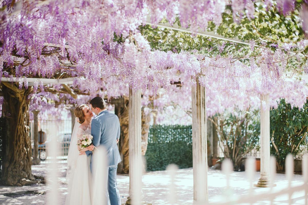 wisteria wedding Montenegro, свадьба в Черногории с глицинией